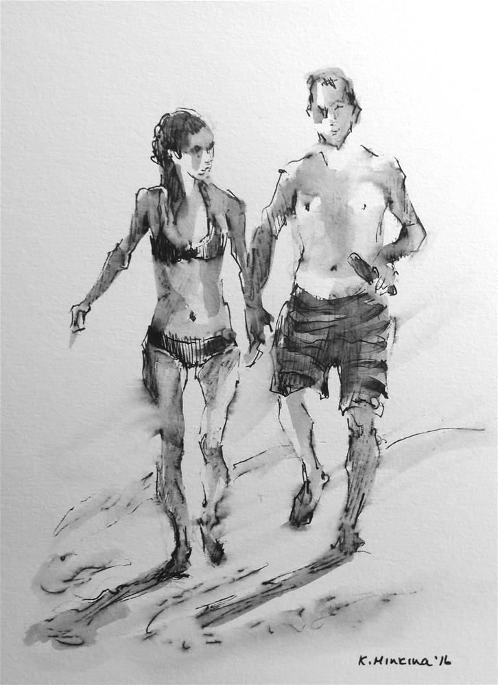 """hanasketching#20"" original fine art by Katya Minkina"