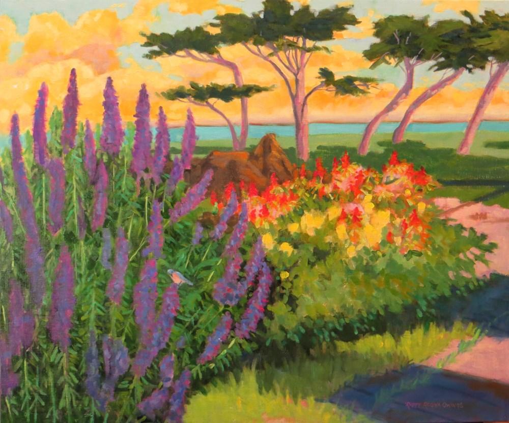 """Pacific Grove Blooms"" original fine art by Rhett Regina Owings"