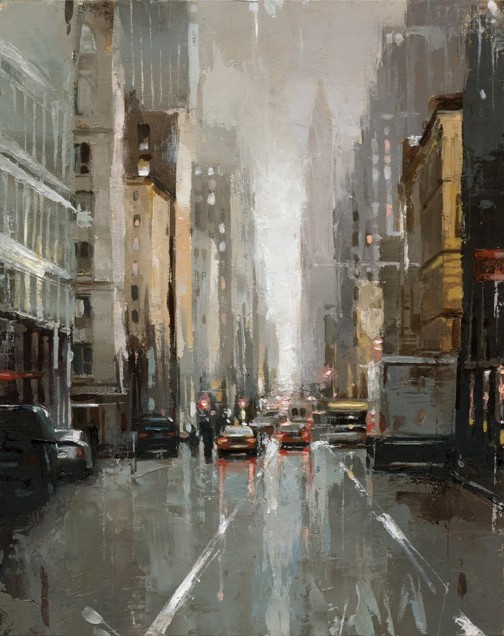 """""""Moving Truck NYC"""" original fine art by Victor Bauer"""