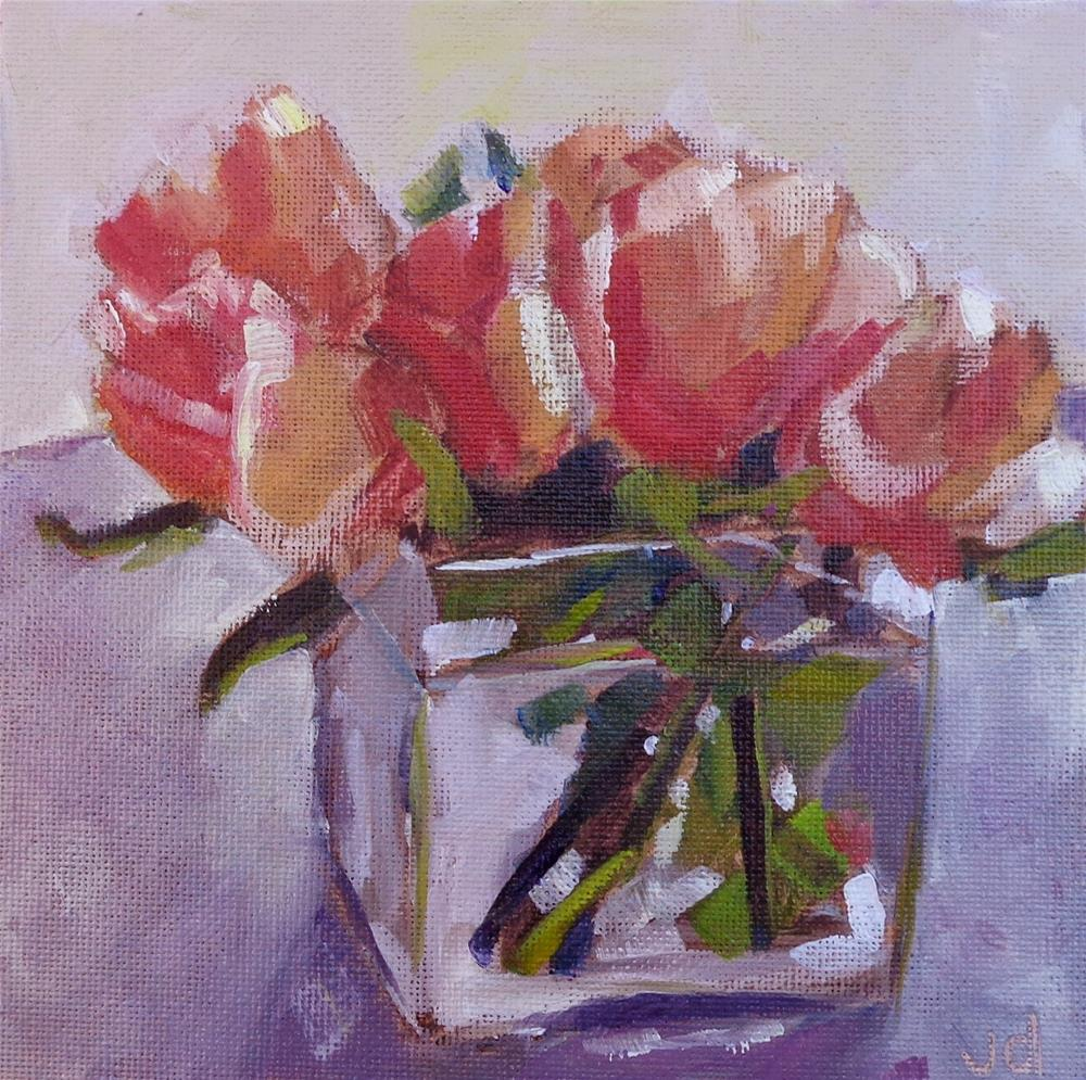 """""""Leigh's roses"""" original fine art by Jean Delaney"""