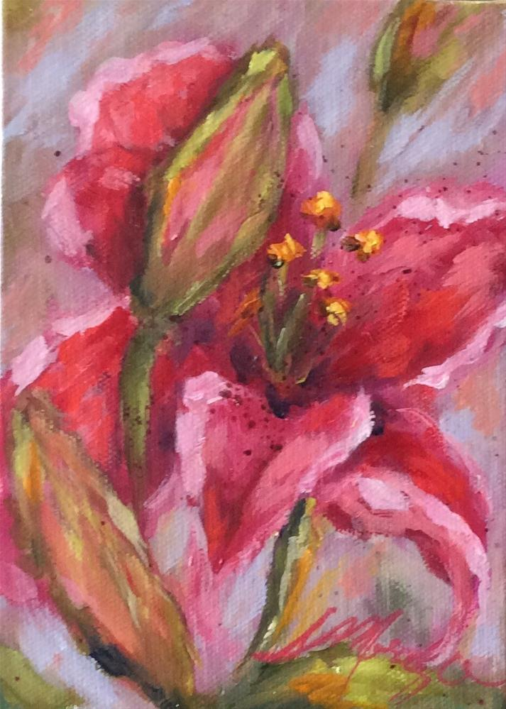 """Hello Beautiful"" original fine art by Susie Monzingo"