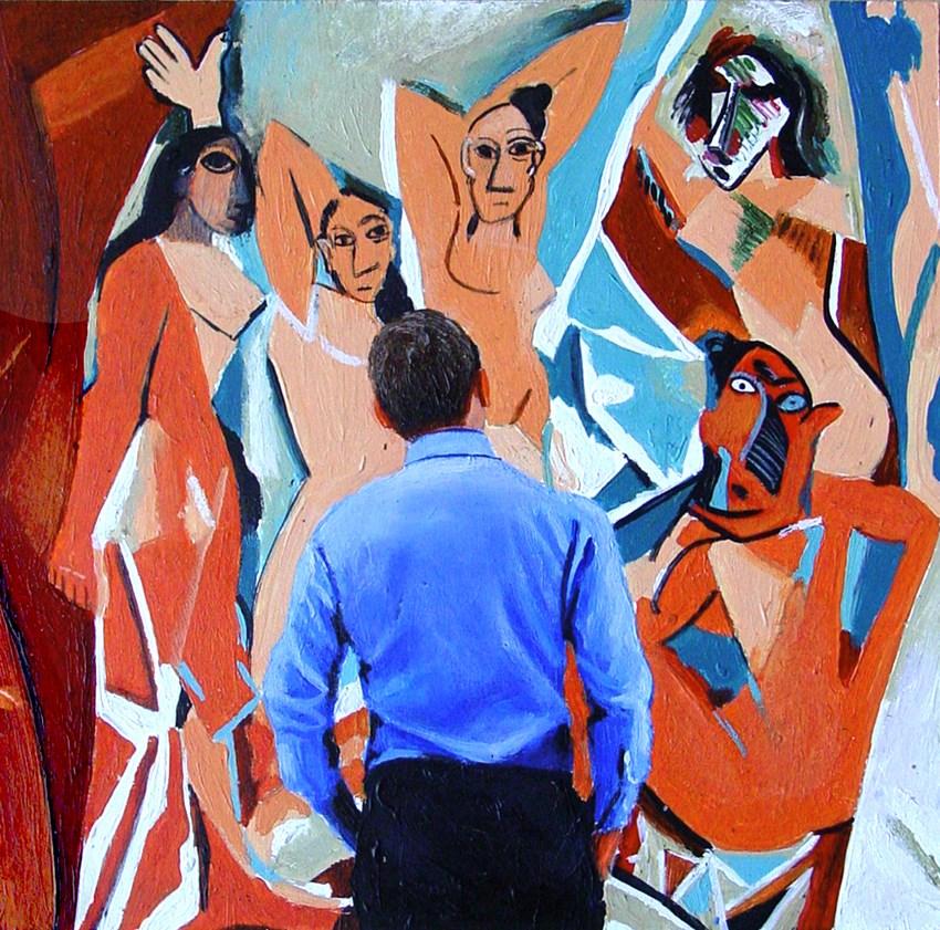 """""""Les Demoiselles D'Avignon"""" original fine art by Gerard Boersma"""