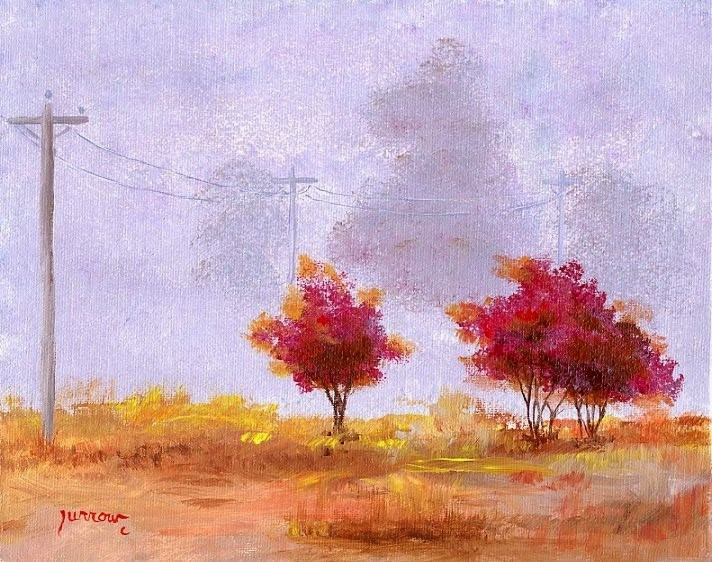 """ORIGINAL PAINTING OF FOGGY MORNING"" original fine art by Sue Furrow"