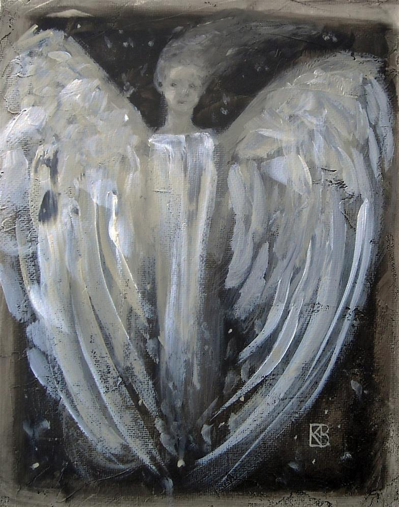 """Midnight Angel"" original fine art by Kathleen Barnes"