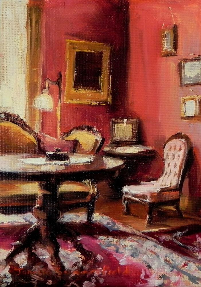 """""""Victorian Interior"""" original fine art by Jonelle Summerfield"""