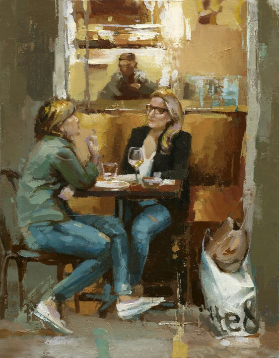 """""""After Shopping"""" original fine art by Victor Bauer"""