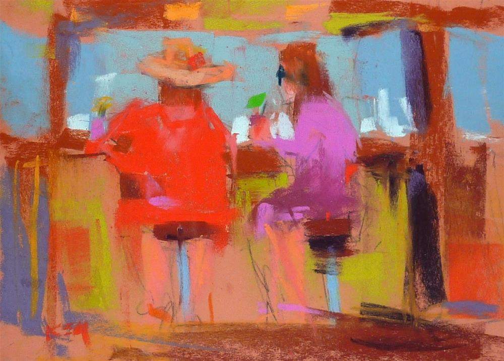 """A Great Place to Paint People"" original fine art by Karen Margulis"