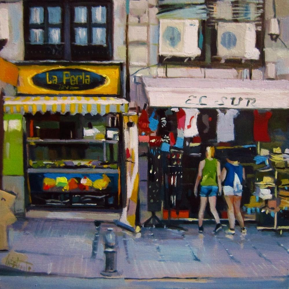 """Souvenir shop"" original fine art by Víctor Tristante"