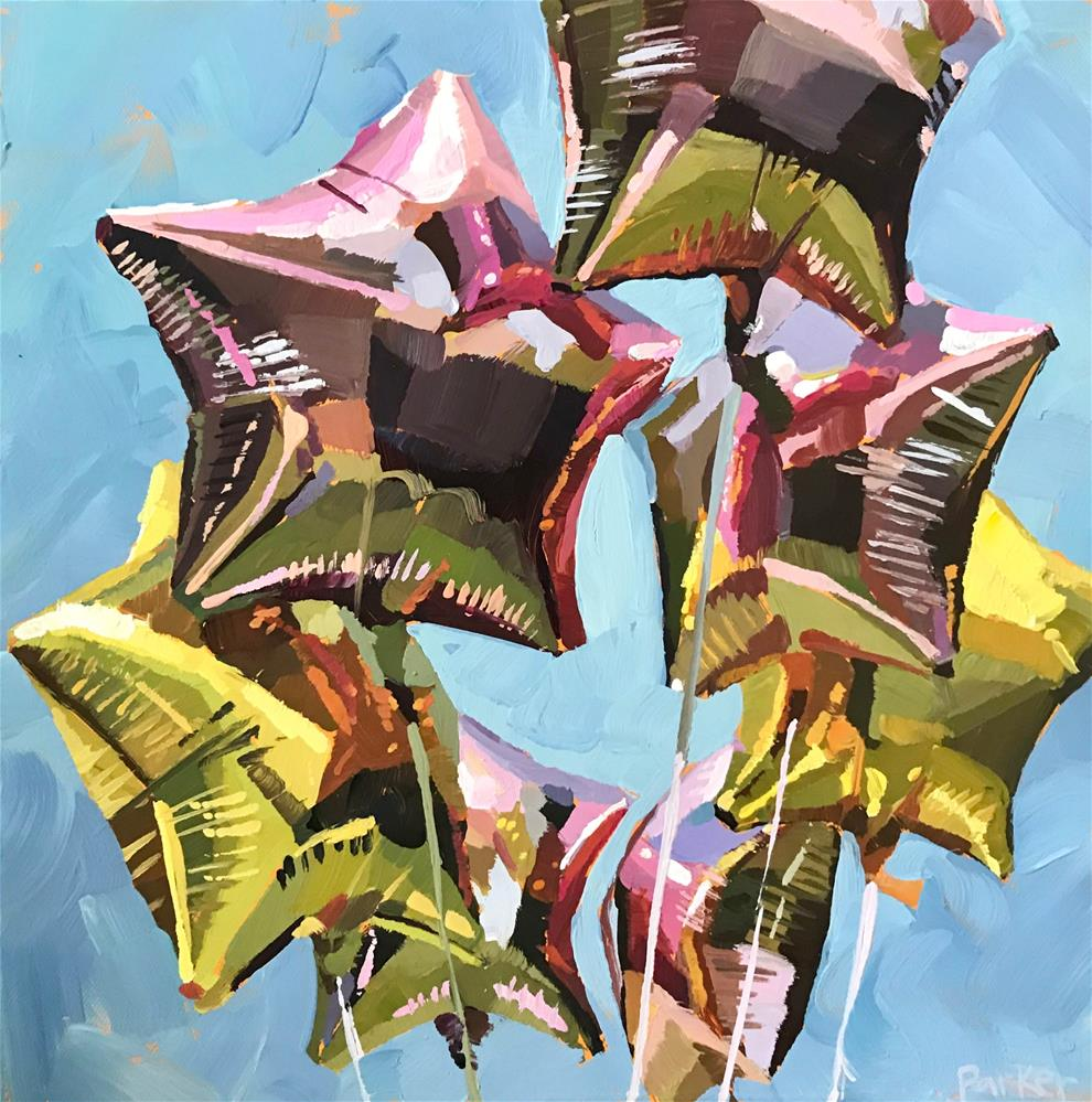 """Helium Filled Joy"" original fine art by Teddi Parker"
