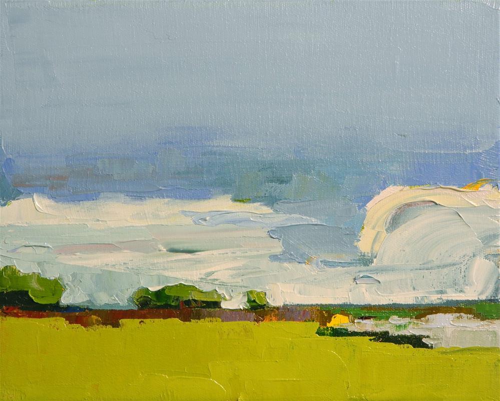 """Monumental Clouds III"" original fine art by Donna Walker"