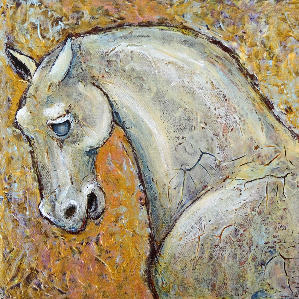 """Chinese Stone Horse"" original fine art by Ande Hall"