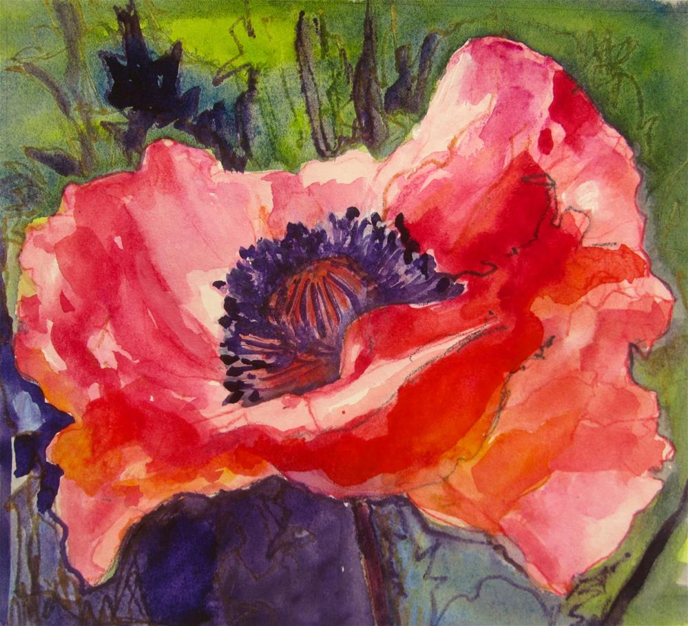 """Remembrance Poppy"" original fine art by Patricia MacDonald"
