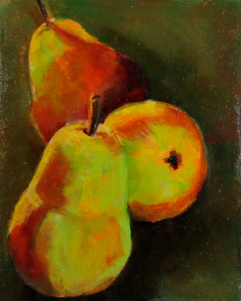 """""""3 Pears of Wishes For All that You Want"""" original fine art by Christine Holzschuh"""