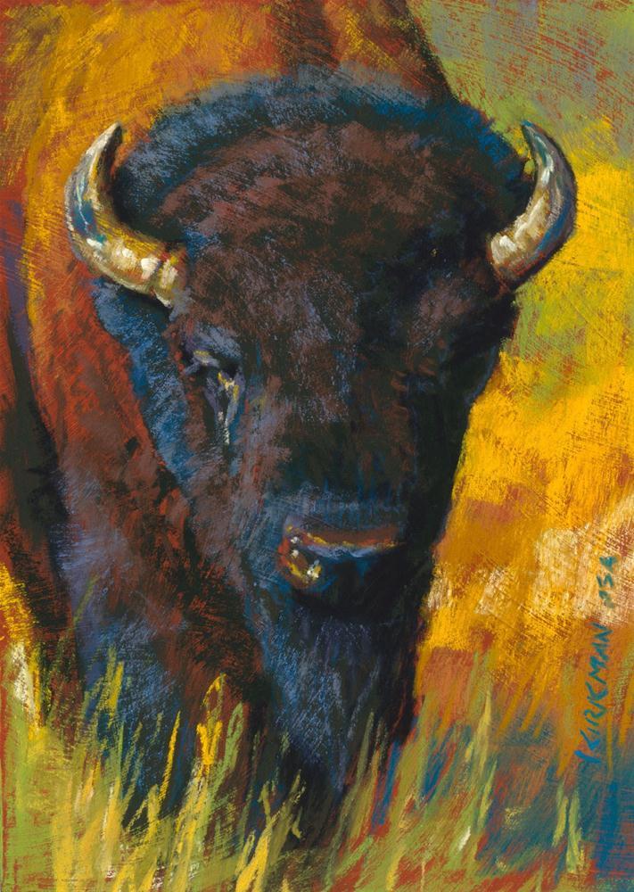 """Attila"" original fine art by Rita Kirkman"