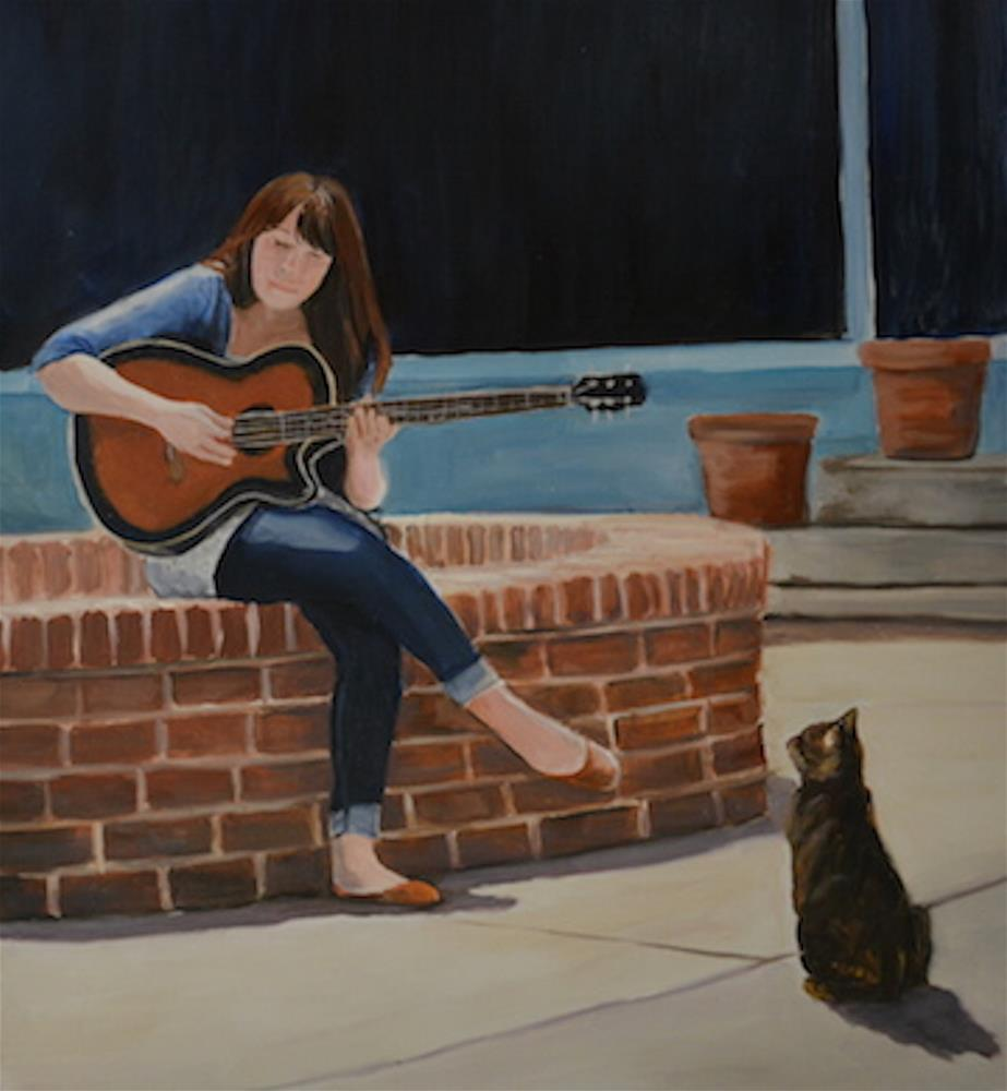 """Entertainment on the Square"" original fine art by Charlotte Yealey"