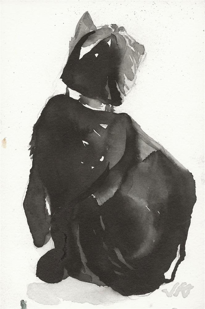"""Daily Cat 72"" original fine art by Jean Krueger"