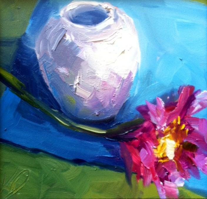 """""""Pink"""" original fine art by Kristen Dukat"""