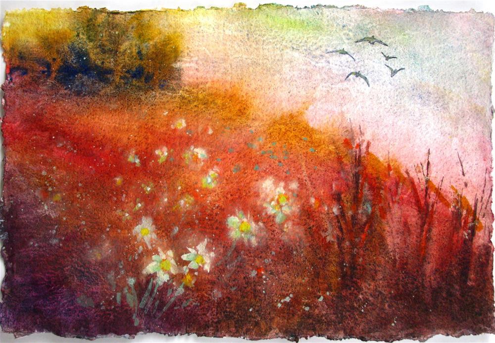 """""""Flowers & Field"""" original fine art by Melissa Gannon"""