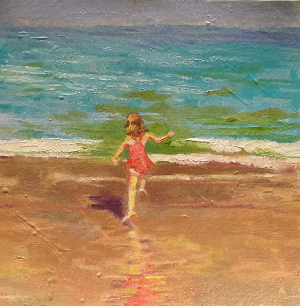 """""""Youth Sublime 6x6 oil on canvas"""" original fine art by Christine Holzschuh"""
