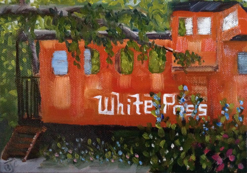 """""""Caboose Cabin"""" original fine art by Bobbie Cook"""