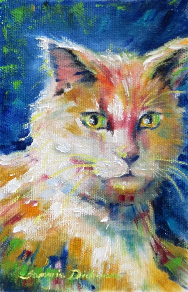 """""""Brother Cat"""" original fine art by Tammie Dickerson"""