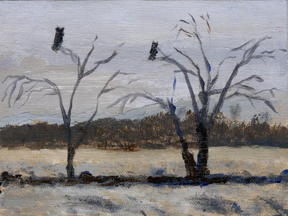 """Night Stalkers"" original fine art by Stanley Epperson"