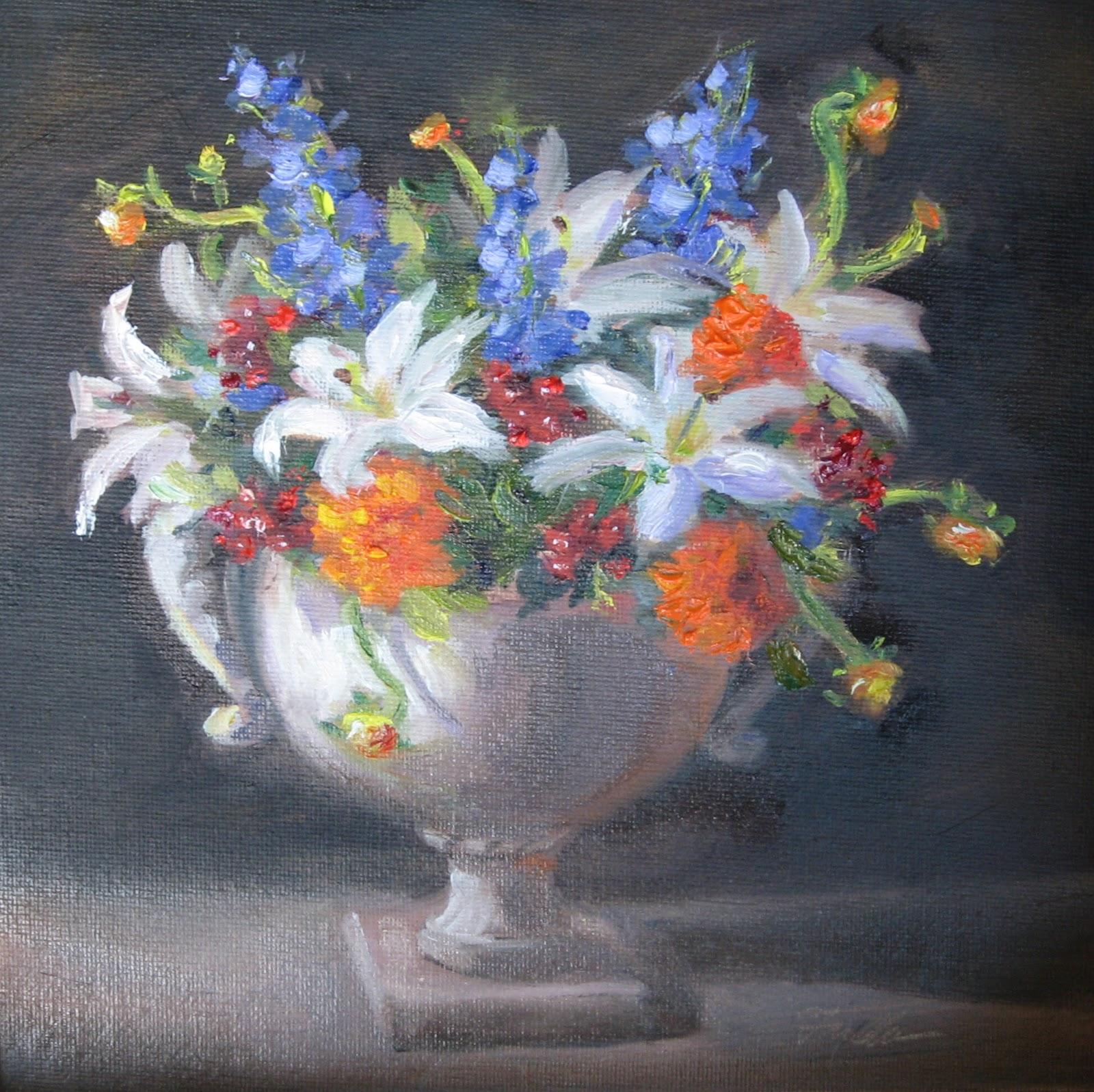 """Flower Study #40"" original fine art by Pat Fiorello"