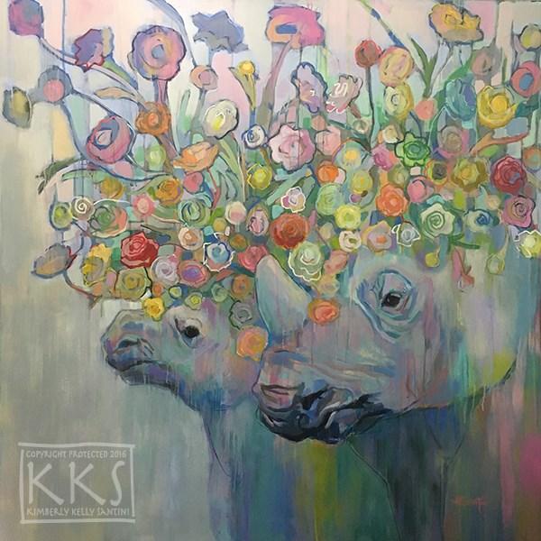 """Rhin-unculus"" original fine art by Kimberly Santini"