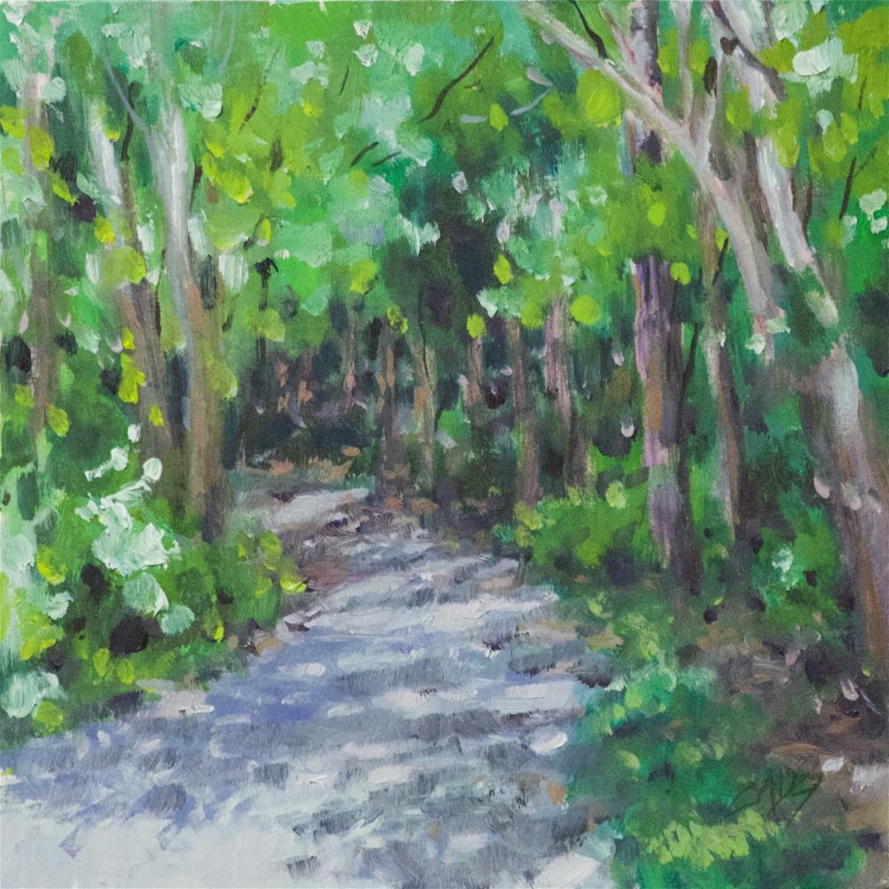 """""""Shady Trail"""" original fine art by Linda Eades Blackburn"""