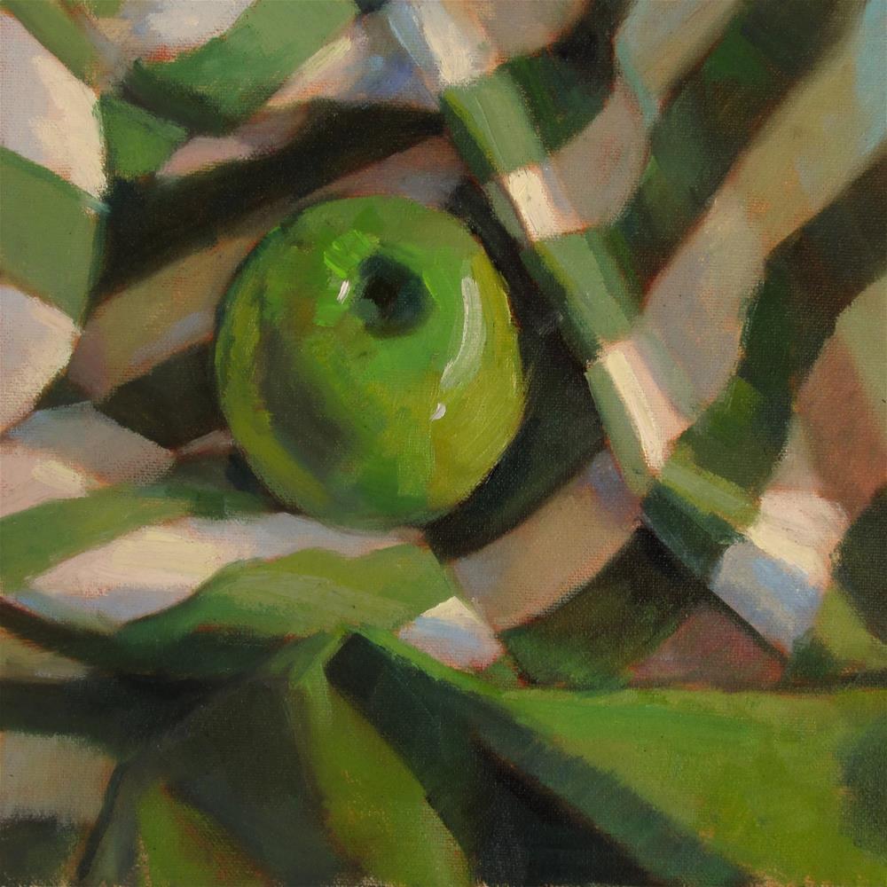 """""""Striped Green"""" original fine art by Dana Cooper"""