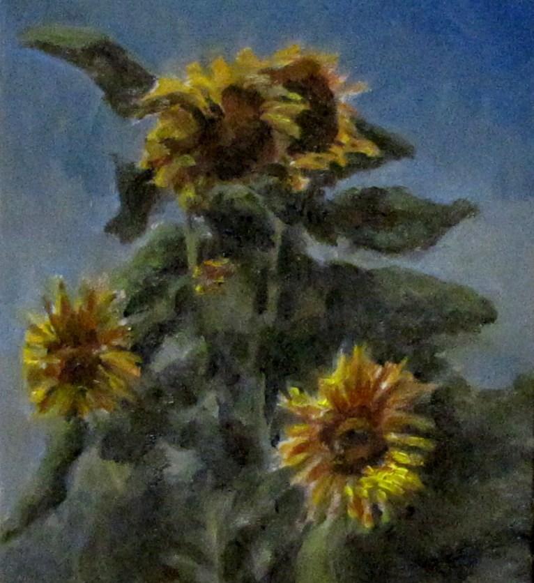 """spring flowers"" original fine art by tom dawson"