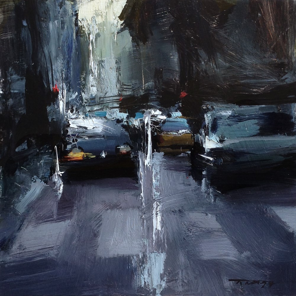 """Busy Roads"" original fine art by Tibor Nagy"
