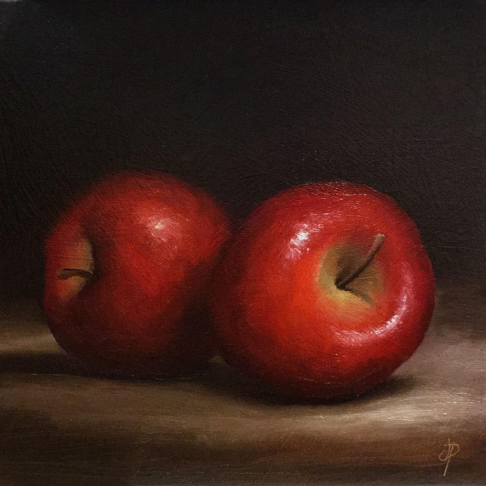 """Red Apples"" original fine art by Jane Palmer"