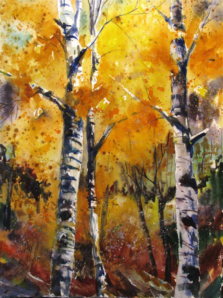 """Woods of Gold"" original fine art by Melissa Gannon"