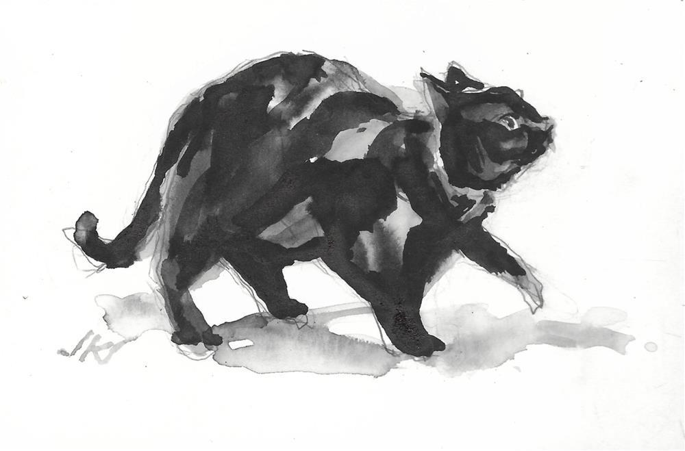 """Daily Cat 207"" original fine art by Jean Krueger"