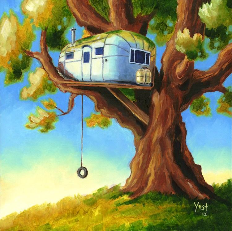 """""""Treehouse"""" original fine art by Matt Yost"""