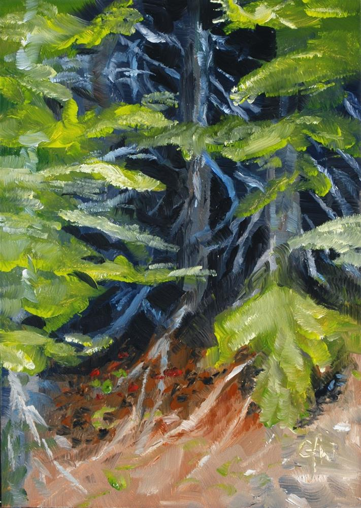 """""""Trees on the Cliff"""" original fine art by Gary Westlake"""