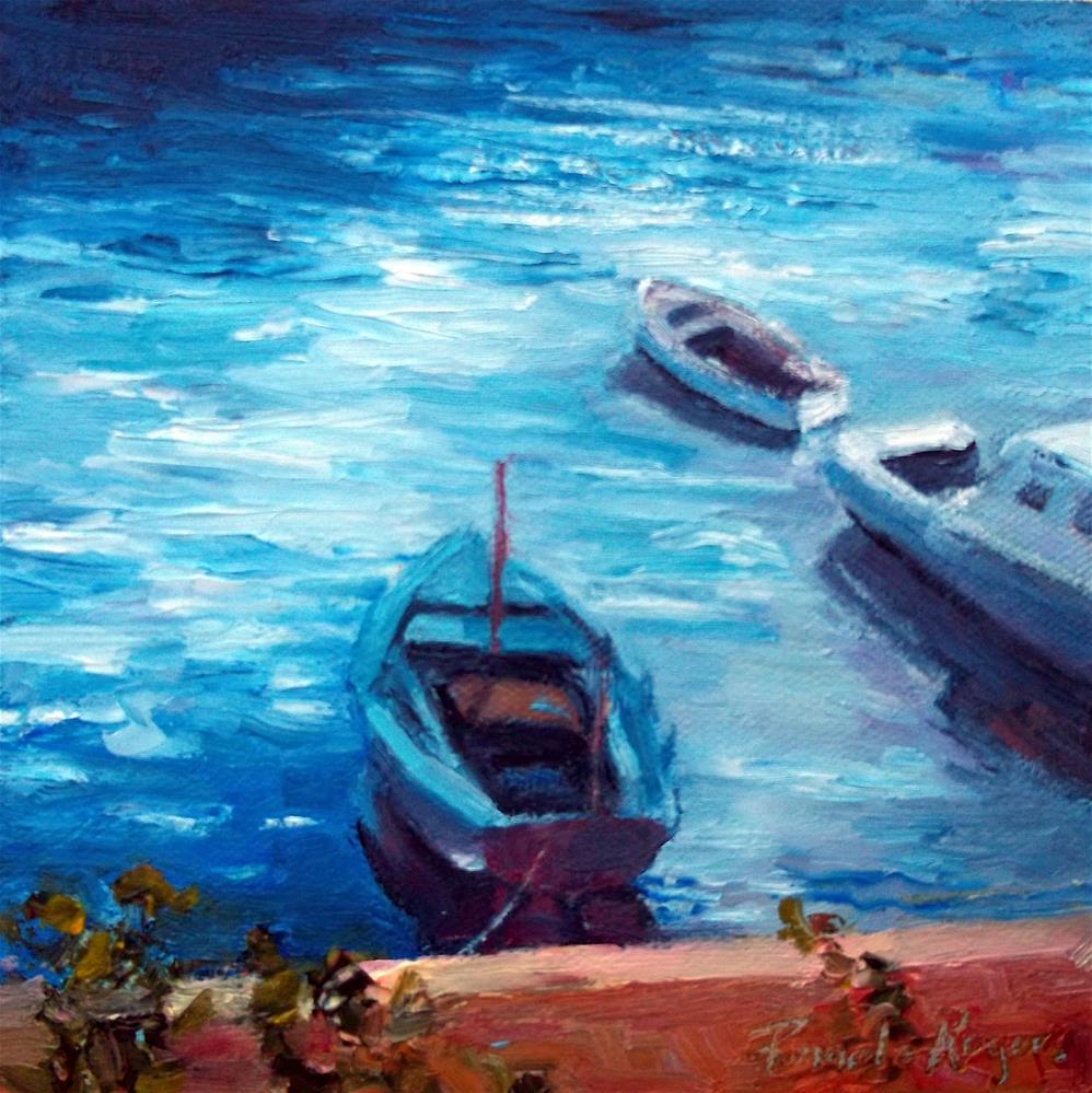 """Caique in Blue"" original fine art by Pamela Jane Rogers"