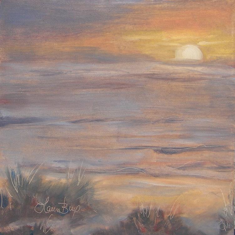 """""""Second Sunset 465"""" original fine art by Laura  Buxo"""