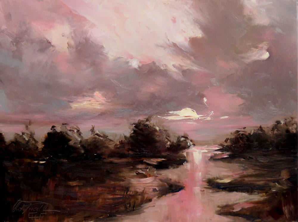 """what a sunrise"" original fine art by Christa Friedl"