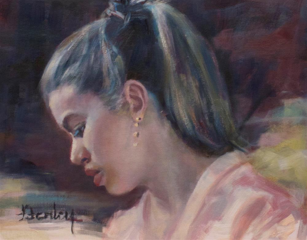 """The Ponytail"" original fine art by Denise Henley"