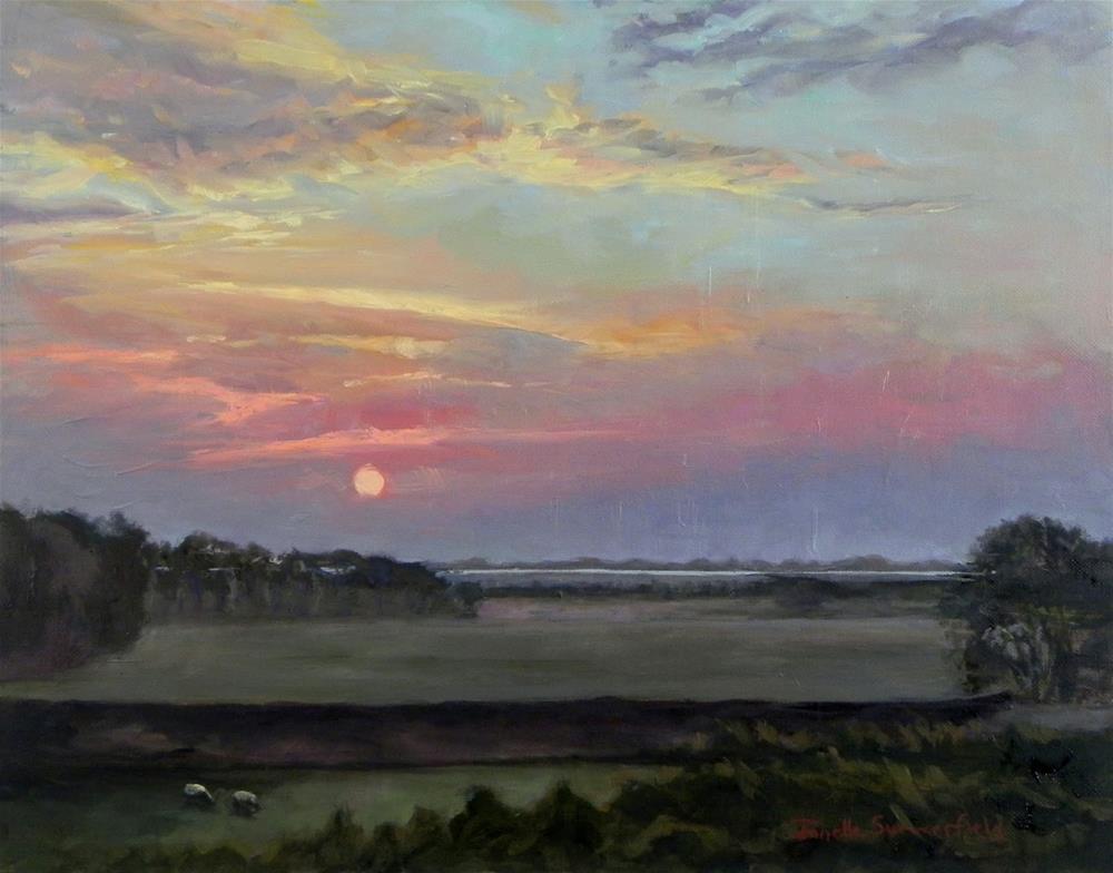 """Sunrise in Wexford Ireland"" original fine art by Jonelle Summerfield"