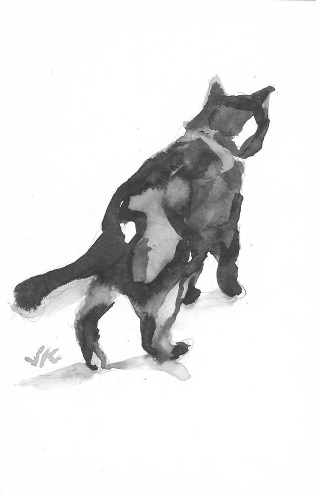 """Daily Cat 203"" original fine art by Jean Krueger"