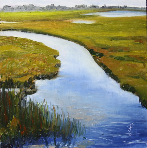 """Wetlands"" original fine art by Jane Frederick"