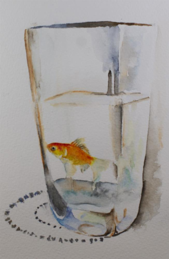 """Hanging Out: Fish Study #2"" original fine art by Sue Churchgrant"