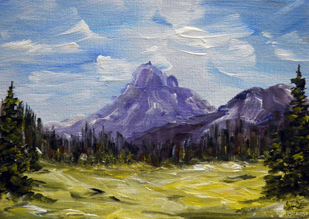 """Pilot Mountain"" original fine art by Gloria Ester"