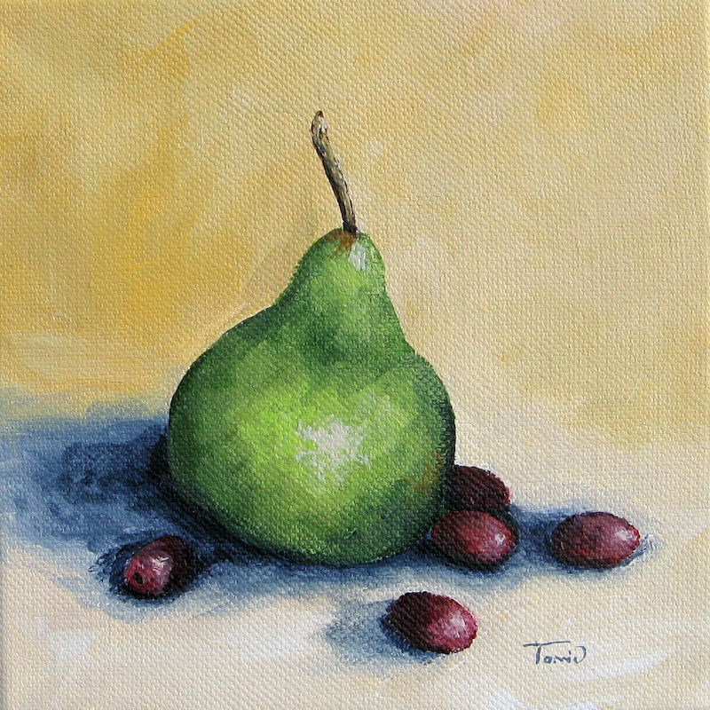 """Pear with Friends"" original fine art by Torrie Smiley"