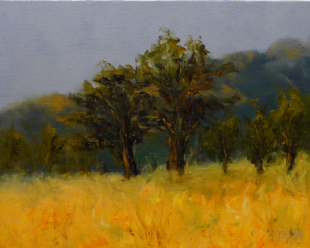 """""""Oaks In The Field"""" original fine art by Dalan Wells"""