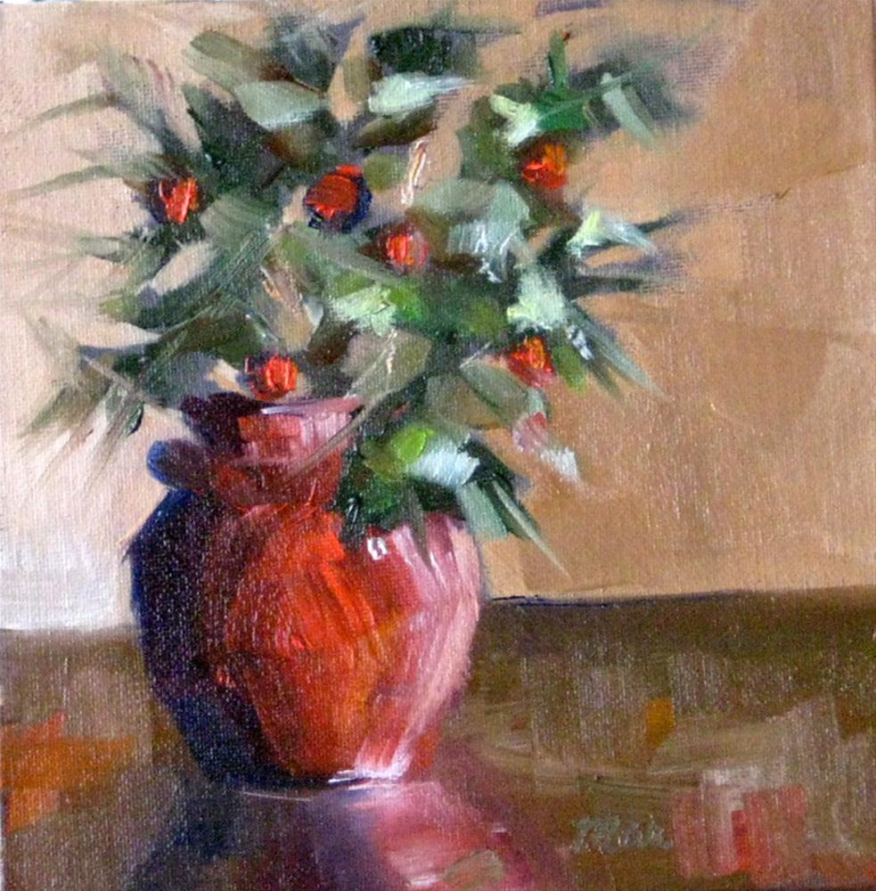 """""""Red and Green"""" original fine art by Marcia Hodges"""