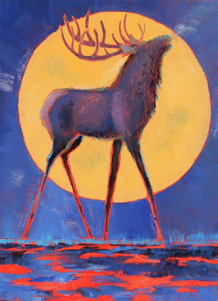"""Moonsong"" original fine art by Colleen Drury"
